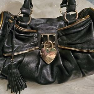 Betsey Johnson Black and Gold Bow Purse